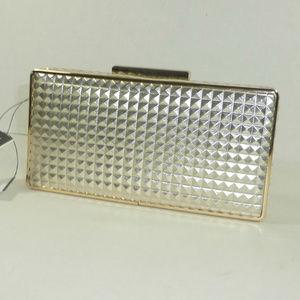 Sondra Roberts Bags - Sondra Roberts Metallic Gold Clutch Bag